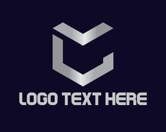 Metallic - Shield Letter C logo design