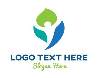 Wellness - Colorful Wellness Leaf logo design