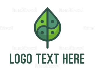 Buddhism - Asia Leaf logo design