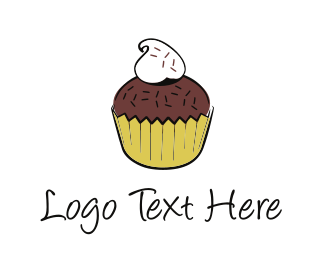 Brownie - Chocolate Cupcake logo design
