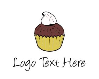 Birthday - Chocolate Cupcake logo design