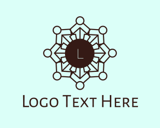 Henna - Mosaic Hindi Flower logo design