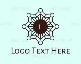 Buddhism - Mosaic Hindi Flower logo design