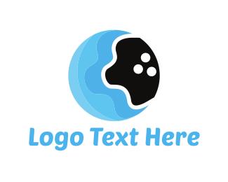 Ball - Water Bowling logo design