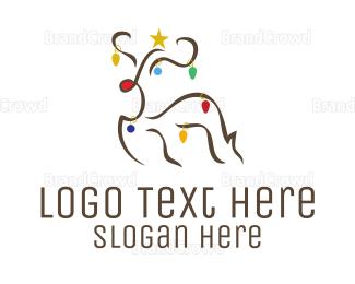 Reindeer - Christmas Rudolf logo design