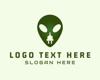 Extraterrestrial - Electric Alien logo design