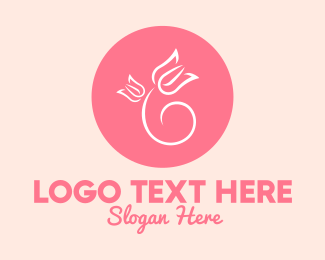 Feminine Wash - Floral Circle logo design