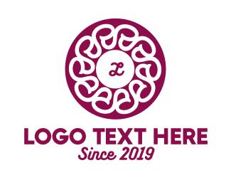 Rounded - Floral Spa Lettermark logo design