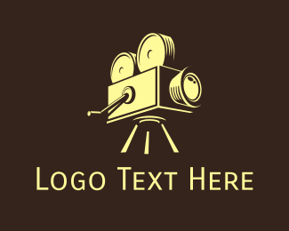Antiquarian - Vintage Video Camera logo design