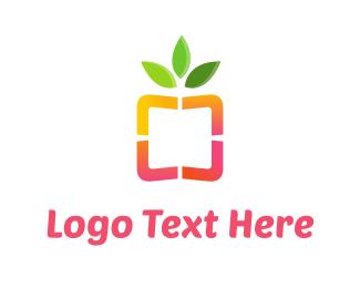 Salad - Healthy Box logo design