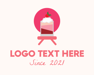 Milkshake - Strawberry Milkshake logo design
