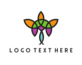 Chandelier - Floral Chandelier logo design