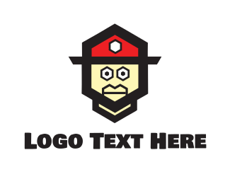 Toy - Fireman Toy logo design