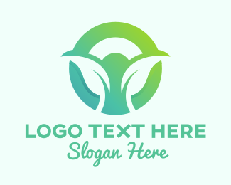 Circle - Eco Green Leaf Circle logo design