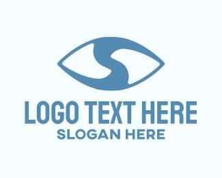 Observe - Eye Letter S logo design