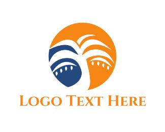 Hawaii - Tropical Palm logo design