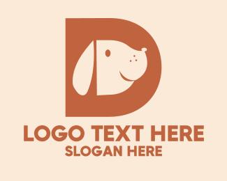 Dog Walker - Pet Dog Letter D logo design
