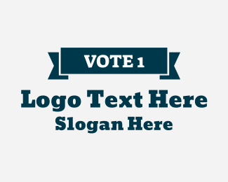 Voting Precinct - Vote 1 Banner Wordmark logo design