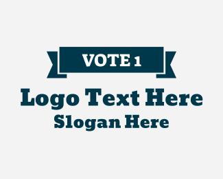 Politician - Vote 1 logo design