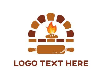 Brown - Bakery Oven logo design