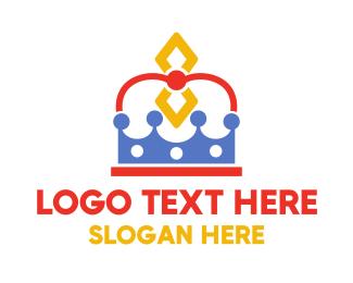 Stylish - Stylish Diamond Crown logo design