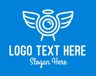 Video Coverage - Minimalist Angel Camera logo design