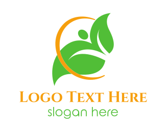 Halo - Eco Circle Leaf logo design