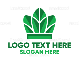 Ecosystem - Nature Leaf Crown logo design