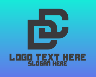 An - Modern DC Monogram logo design