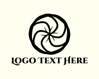Helix - Black Flower logo design