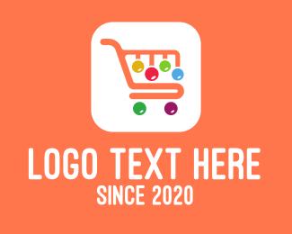 Bubbly - Online Shopping Application logo design