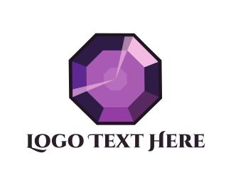 Gemstone - Purple Gem logo design