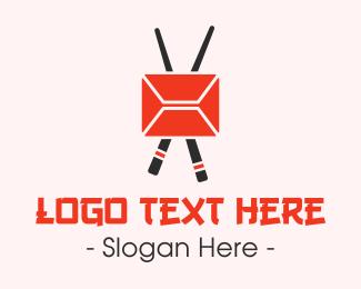 Mail - Mail Chopstick logo design