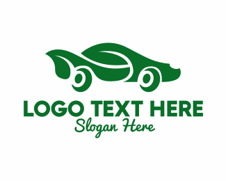 Car Parts - Green Eco Car logo design