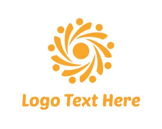 Helix - Yellow Sun logo design
