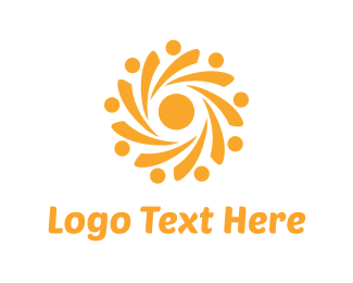 Rotate - Yellow Sun logo design