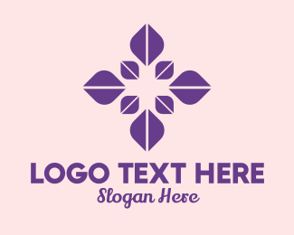 Event Styling - Purple Petal Flower  logo design
