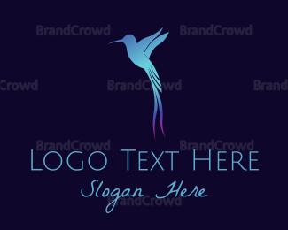 Colibri - Blue Hummingbird logo design