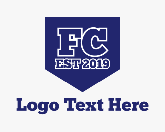 Football Club - FC Shield logo design