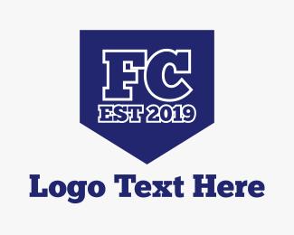 Fc - Club FC Shield logo design