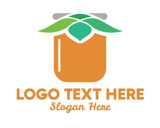 Jar - Leaf Jar logo design