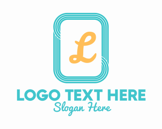 Cool - Teal Square Lines Letter logo design