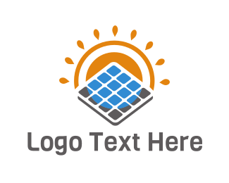 Eco Energy - Eco Solar Panel logo design