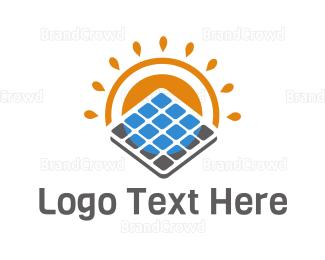 Eco Energy - Eco Solar Panel logo design