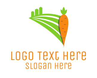 Veggie - Carrot Field logo design