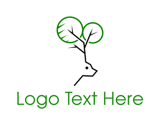 Deer - Deer Tree logo design