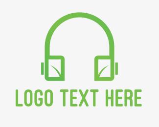 Audio - Eco Headphones logo design