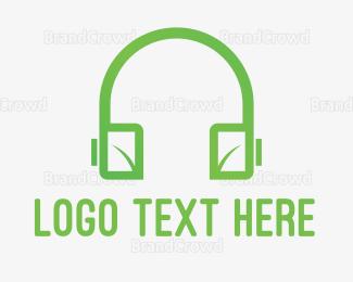 Radio - Eco Headphones logo design