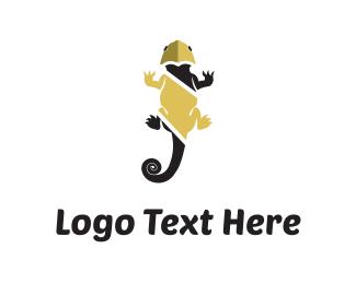 Salamander - Black Chameleon logo design