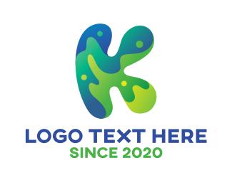 Artist - Colorful Artistic Letter K logo design